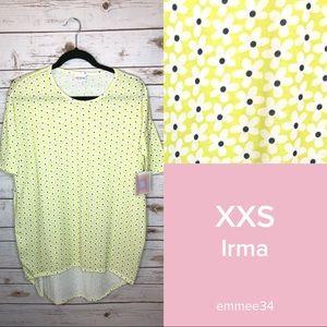 LuLaRoe Tops - Lularoe Irma Tunic Top neon green/yellow flowers